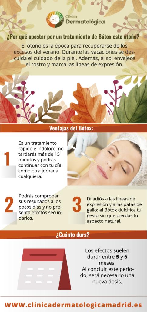 Bótox en otoño, Clínica Dermatológica Madrid